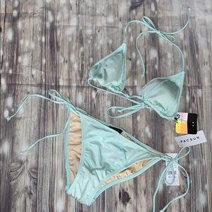 Triangle Bikini set by la hearts size medium